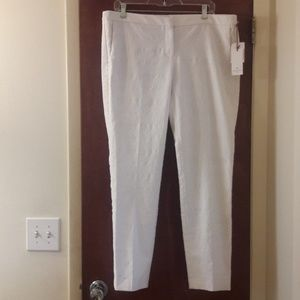 SAINT TROPEZ West Pants WHITE Size 14 NWT